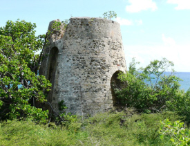 Colonial-era ruins at Estate Castle Nugent - courtesy stcroixsource.com